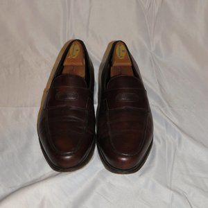 John Lobb Lopez Brown Leather Penny Loafer 8.5E
